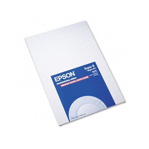 Epson America Inc. S041289 Premium Photo Paper, 68 Lbs., 13 X 19, 20 Sheets/Pack