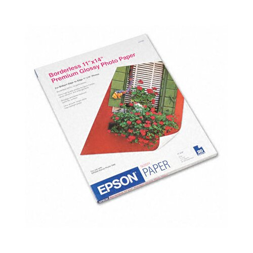 "Epson America Inc. S041466 Premium Photo High-Gloss Paper, 11"" x 14""/Pack"