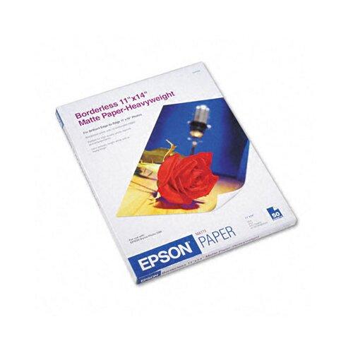 "Epson America Inc. S041468 Premium Matte Presentation Paper, 11"" x 14"", 50 Sheets/Pack"