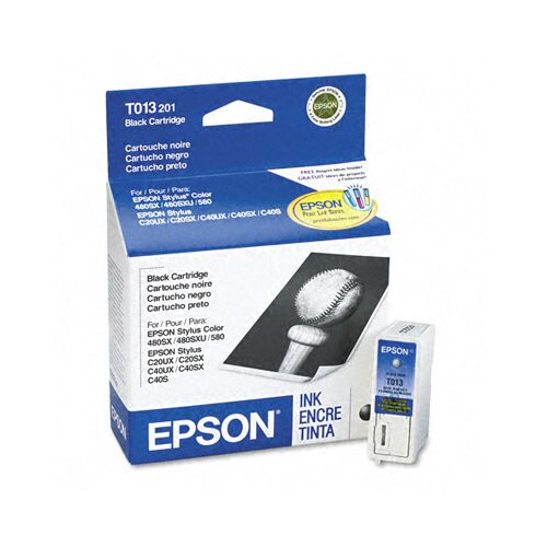 Epson America Inc. T013201 (T013401) Ink Cartridge, Black