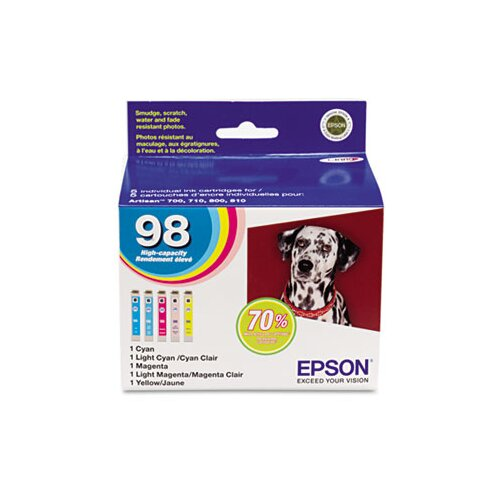 Epson America Inc. T098920 (99) Claria High-Yield Ink, 5/Pack