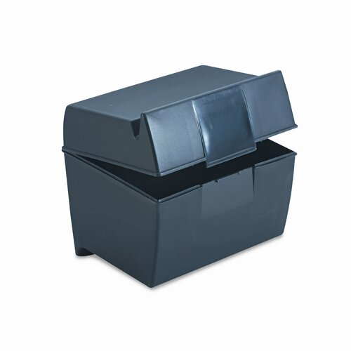 Esselte Pendaflex Corporation Oxford Plastic Index Card Flip Top File Box Holds 400 4 x 6 Cards