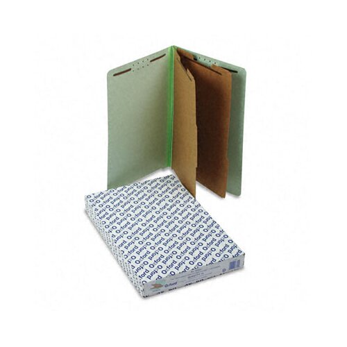 Esselte Pendaflex Corporation Extra-Hvy Pressboard End Tab Folders, Legal, Six-Section, 10/Box