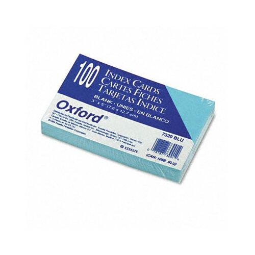 Esselte Pendaflex Corporation Oxford Unruled Index Cards, 3 X 5, 100/Pack