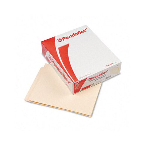 Esselte Pendaflex Corporation End Tab Expansion Folders, 1 Fastener, Straight Cut Tab, Letter, 50/Box