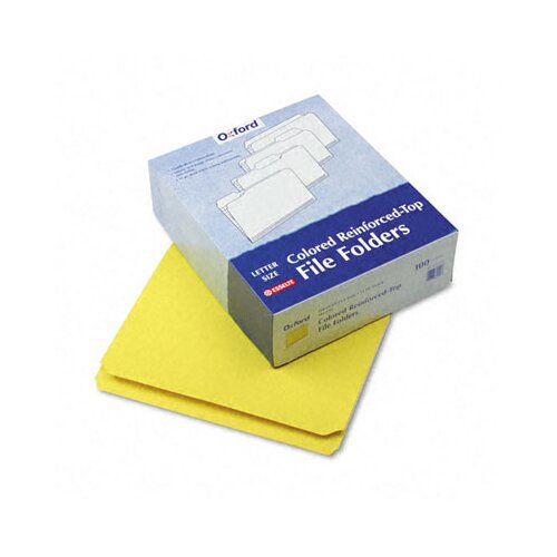 Esselte Pendaflex Corporation Two-Ply Reinforced File Folder, Straight Cut, Top Tab, Letter, 100/Box