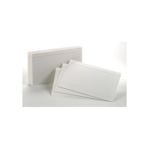 Esselte Pendaflex Corporation Oxford Index Cards 5x8 Ruled White