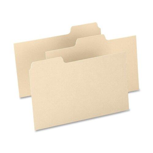 "Esselte Pendaflex Corporation Index Card Guides,Blank,15 Pt.,1/3 Cut,8""x5"",100/BCC,Buff"