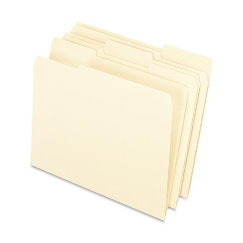 Esselte Pendaflex Corporation Interior File Folders, 1/3 Cut Top Tab, Letter, 100/Box