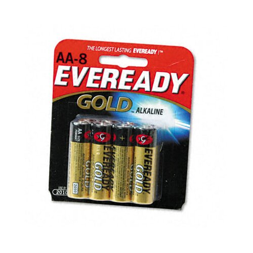 Energizer® Gold Alkaline Batteries, AA, 8/pack
