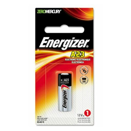 Energizer® Watch/Electronic Battery, Alkaline, A23, 12V, Mercfree
