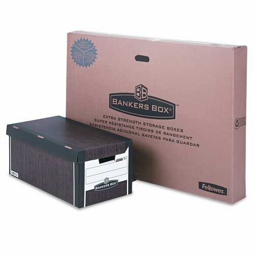 Fellowes Mfg. Co. Bankers Box Fastfold Flip Top File Storage Box, Letter, 12/Carton