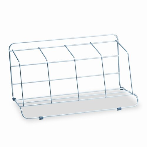 Fellowes Mfg. Co. Four-Section Wire Catalog Rack, Metal
