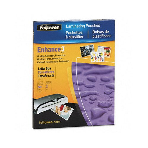 Fellowes Mfg. Co. Laminating Pouches, 3mm, 11-1/2 x 9, 50/pack