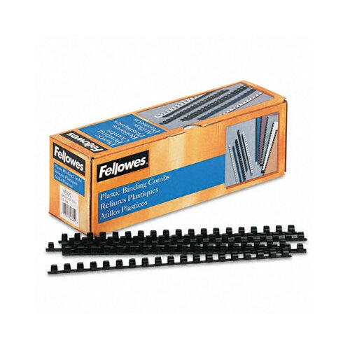 Fellowes Mfg. Co. Plastic Comb Bindings, 55 Sheet Capacity, 100 Combs/Pack