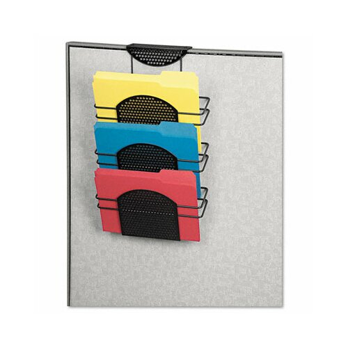 Fellowes Mfg. Co. Perf-Ect Partition Additions Three-Pocket Organizer