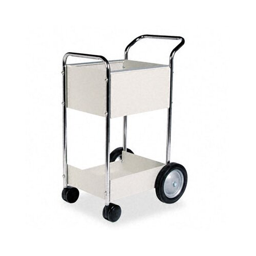 "Fellowes Mfg. Co. 38"" Steel Mail Cart"