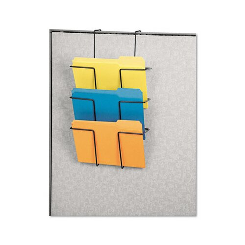 Fellowes Mfg. Co. Wire Partition Additions Three-Pocket Organizer