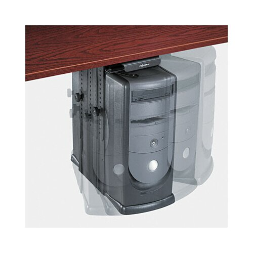 """Fellowes Mfg. Co. 11"""" H x 17"""" W Desk CPU Holder"""