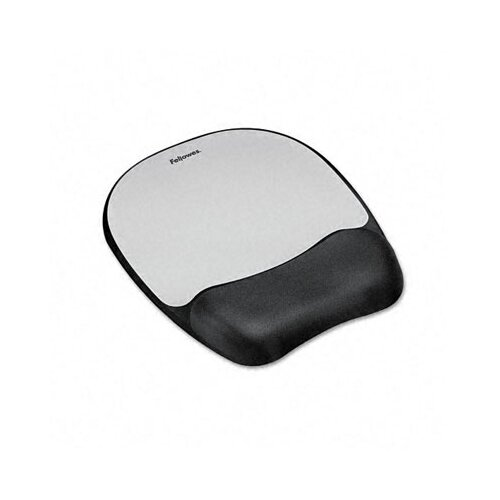 Fellowes Mfg. Co. Mouse Pad with Wrist Rest, Nonskid Back, 8 X 9-1/4