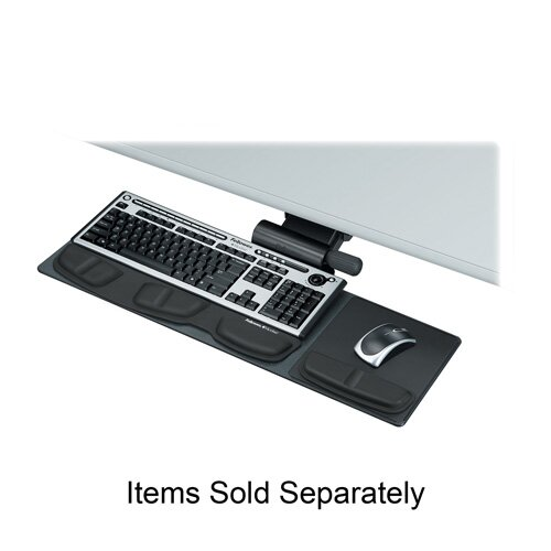"Fellowes Mfg. Co. Compact Keyboard Tray, 27-1/2""x18""x3"", Black"