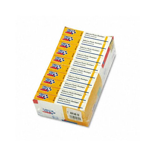 First Aid Only™ Plastic Adhesive Bandages, 160/Pack