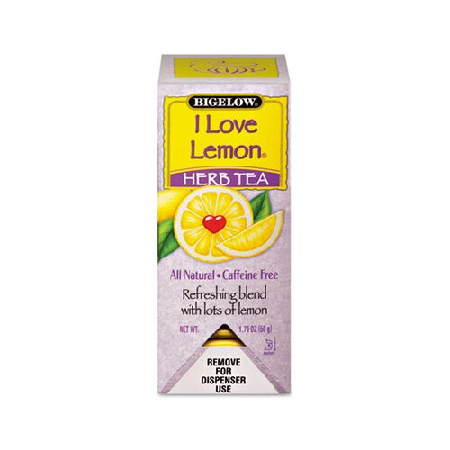 FIVE STAR DISTRIBUTORS, INC. Bigelow Single Flavor Tea, I Love Lemon, 28 Bags/Box