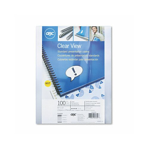 GBC® Swingline Clear View Presentation Binding System Cover, 11 X 8-1/2, 100/Box