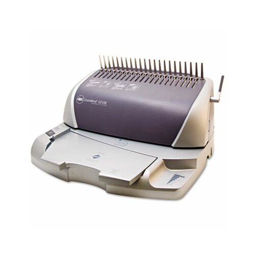 GBC® CombBind C210E Electric Comb Binding Machine, 425-Sheets, 16 x 14 x 9, Silver/GY