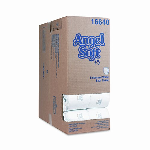 Georgia Pacific Angel Soft Ps Premium Bathroom Tissue, 450 Sheets/Roll, 80 Rolls/Carton