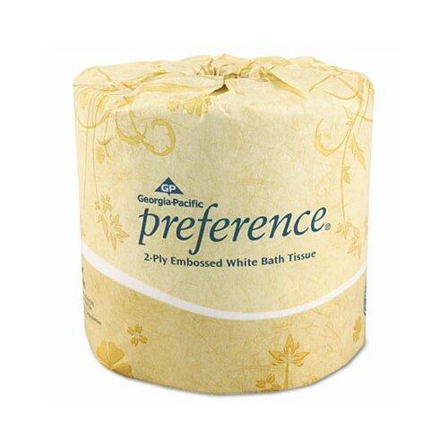 Georgia Pacific Embossed 2-Ply Toilet Paper - 550 Sheet per Roll / 80 Rolls per Carton
