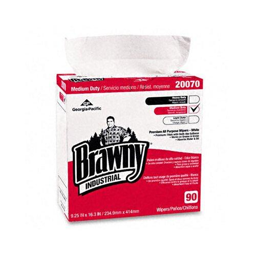 Georgia Pacific Brawny Industrial Medium-Duty Premium Wipes, 90/Box