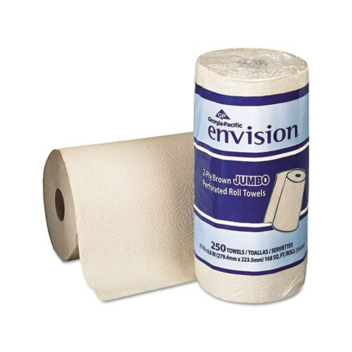 Georgia Pacific Envision Perforated Paper Towel, 250/Roll, 12/Carton