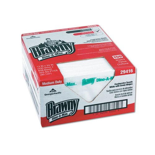 Georgia Pacific Brawny Dine A Max Food service Towels in White / Green