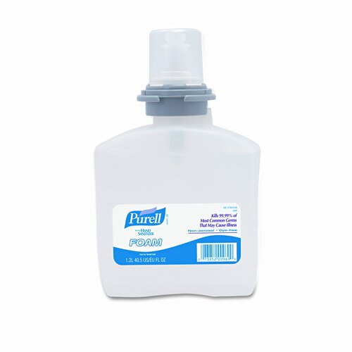 GOJO Industries PURELL TFX Foam Instant Hand Sanitizer Refill, 1,200-ml Bottle, White