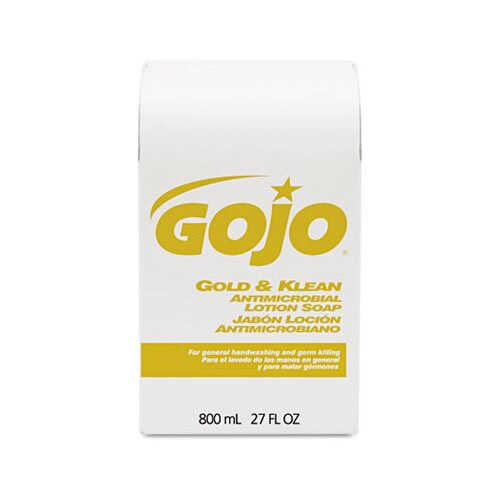 GOJO Industries Gold and Klean Lotion Soap Bag-In-Box Dispenser Refill, Fresh Liquid, 800Ml