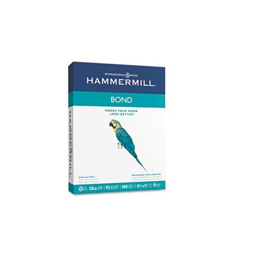 Hammermill Multipurpose Bond Paper, 92 Brightness, 20Lb, 500 Sheets/Ream
