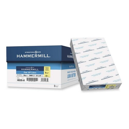 "Hammermill Multipurpose Paper, 8-1/2""x14"", Canary (1 Ream Only)"