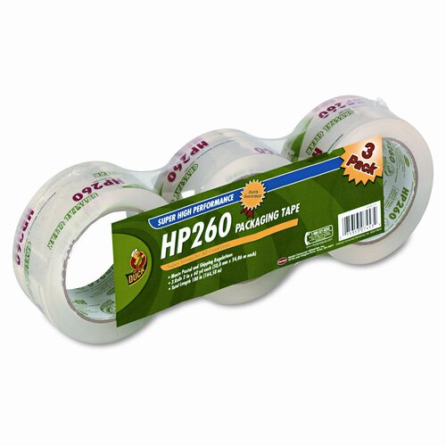 "HENKEL CORPORATION Carton Sealing Tape 2"" x 60 Yards, 3"" Core, Clear, Three per Pack"