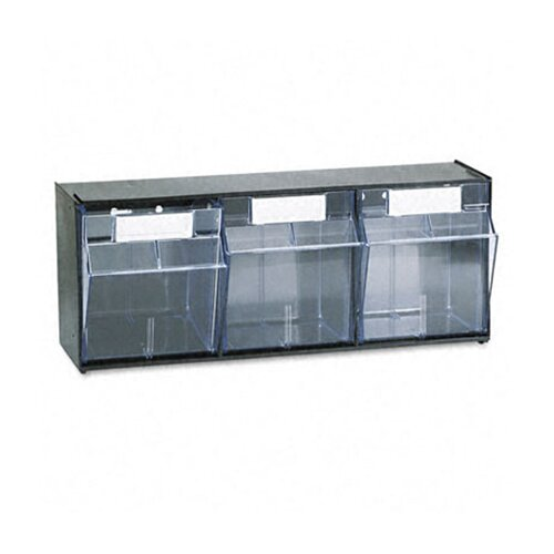 Deflect-O Corporation Tilt Bin Plastic Storage System with 3 Bins