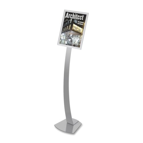 "Deflect-O Corporation Sign Stands, Holds 11""x17"", 12""x12""x56"", Silver"