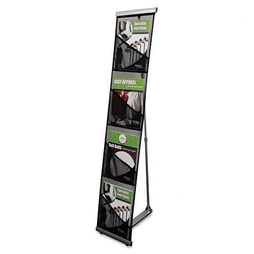 Deflect-O Corporation 4 Pocket Mesh Floor Stand