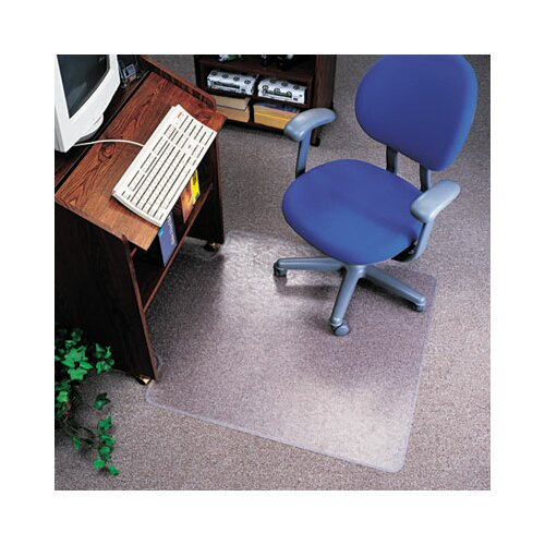 Deflect-O Corporation EconoMat Nonstudded, No Bevel Chair Mat for Low Pile Carpet