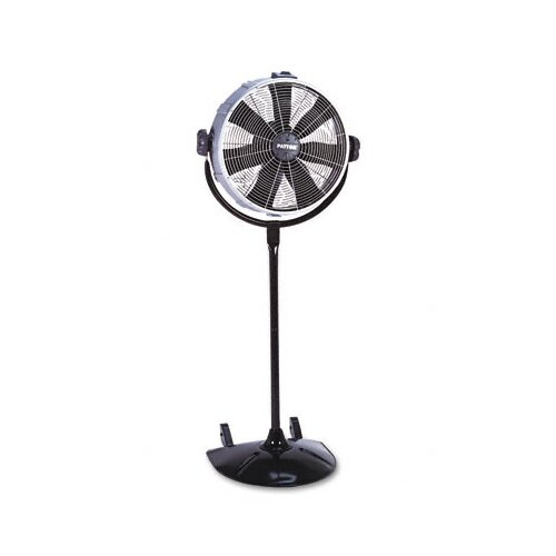 "Holmes® 20"" Three-Speed CVT Performance Pedestal Fan, Metal/Plastic, Black"