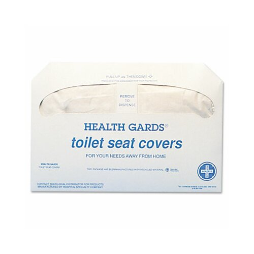 Hospital Specialty Health Gards Toilet Seat Covers, 250 Covers/Pack, 20 Packs/Carton