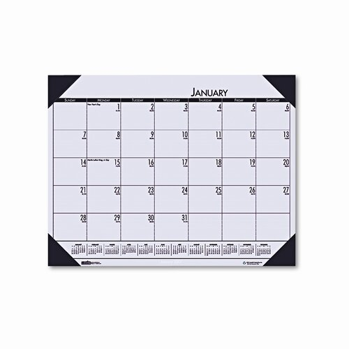 House of Doolittle EcoTones Sunrise Rose Monthly Desk Pad Calendar, 22 x 17, 2013