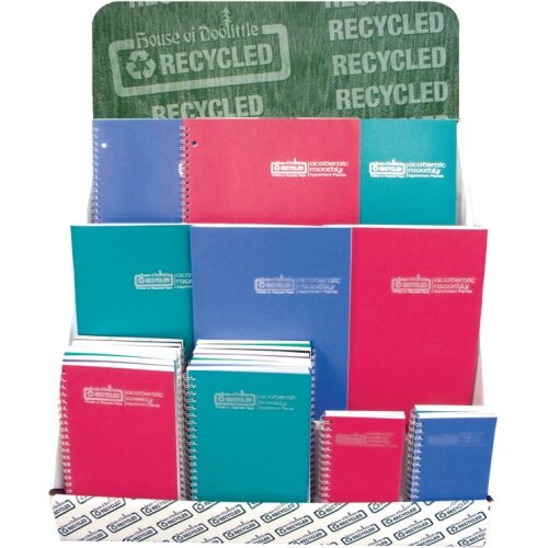 "House of Doolittle Academic Leatherette Weekly Planner , Wirebound, 5""x8"", 13 Mos, Blue, 2013"