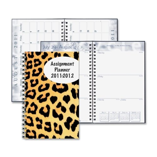 "House of Doolittle Leopard Design Weekly Assignment Planner, 13 Mos, 5""x8"", Trans/Leopard, 2013"