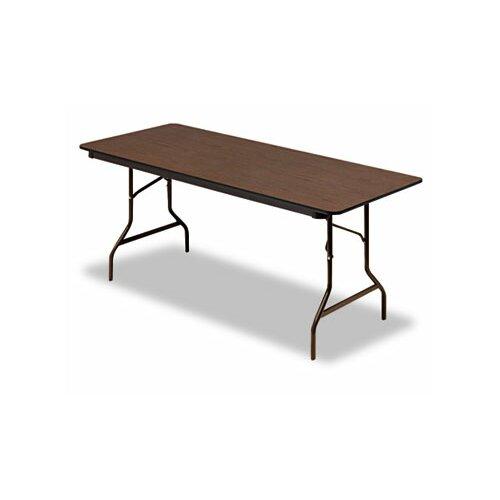 """Iceberg Enterprises Iceberg Economy Wood Laminate 72"""" Rectangular Folding Table"""