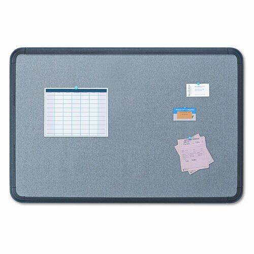 Iceberg Enterprises Gray with Black Polyethylene Frame Fabric 3' x 4' Bulletin Board